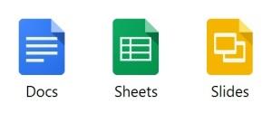 google doc sheets slides