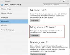 Mise à jour sécurité windows 10